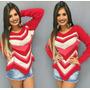 Blusa Tricot Feminina Croche Casaco De Malha Roupa Feminina