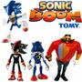 Coleção Sonic Boom Sonic Shadow Metal Sonic Dr. Eggman Tomy
