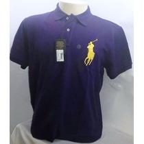 Camisa Polo Ralph Lauren Original Tamanho G M P Azul Marino