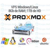 Servidor Vps Xeon 3.2ghz 8gb Ram 1tb Hdd Windows Ou Linux