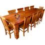 Mesa De Jantar 10 Cadeiras Madeira Maciça Peroba Rosa Bellis