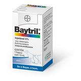 Baytril 5% Injetável 10 Ml Para Cães Bayer
