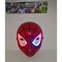 Máscara Homem Aranha Com Luz Led