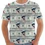 Camiseta 1731 100 Dolár Money Bafo Pateta Desenho Colorida