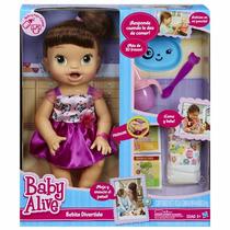 Boneca Baby Alive Morena - Hora De Comer - Hasbro
