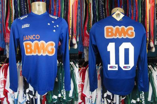 e2b1bda654 Brechó do Futebol - Cruzeiro 2014 Camisa Titular P Número 10 Mangas ...