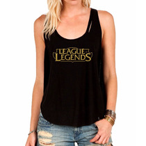 Regata League Of Legends Camiseta Regata Feminina