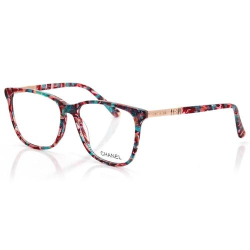 Armação P  Óculos D Grau Feminina X9930 Acetato fc0bda170d