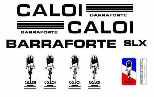 Adesivo Bicicleta Antiga Caloi Barra Forte Slx Preto A Venda Em