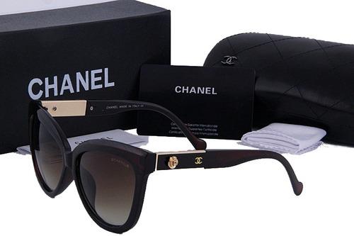 Oculos De Sol Chanel 5323 Preto Dourado Lentes Grande 2019 91e4a358b0