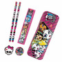 Kit Lapis Borracha Regua Apontador Estojo Monster High