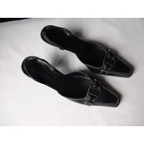 Sapatos Salvatore Ferragamo Mod T-strap Cor Preto Tam.28 Cm