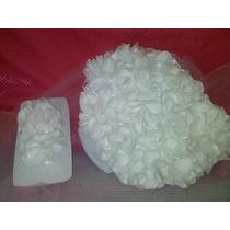 Conjunto Calcinha E Tiara Customizada Em Flores Artesanais