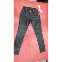 Calça Jeans Feminina Resinada Empório (imita Couro)