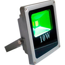 10 Refletor Holofote Led Verde 10w Bivolt Prova D