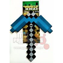 Picareta Minecraft Diamante Grande Enorme 47cm Selo Inmetro