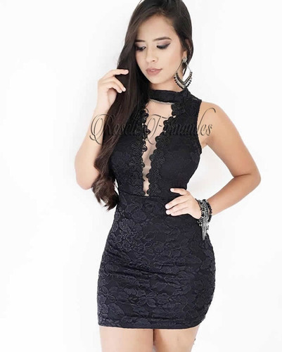 635f75138 Vestido Feminino Curto Festa Roupas Direto Fabrica Em Renda