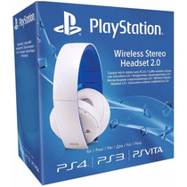 Headset Gold 7.1 Wireless Sony Branco Ps4 Ps3 Vita Xbox One