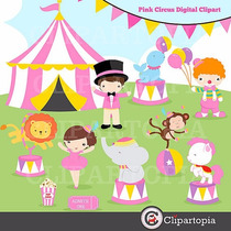 Kit Scrapbook Digital Circo Palhaços 2 Imagens Clipart