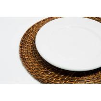 Jogo Ou Kit 10 Sousplat De Rattan 34cm Bon Gourmet - 1060