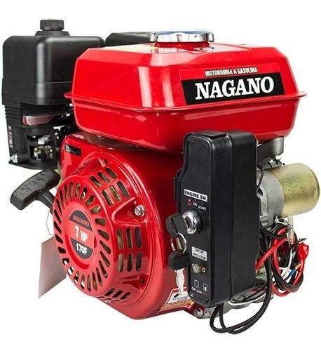 Motor A Gasolina 7 Hp Partida Elétrica - Nmg70e - Nagano