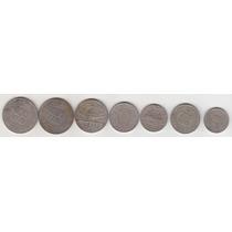 L570 - 7 Moedas Brasileiras Niquel Coleção Brasil R$ 19,00