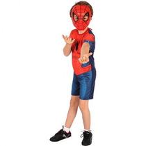 Fantasia Homem Aranha Ultimate Curto