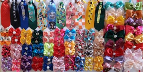 Kit 200 Pet Shop, Laços,gravatas, Laços De Pescoço Completo