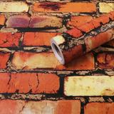 Papel Adesivo Contact Tijolo 6  X-ink 45cm X 10mt Tijolinho