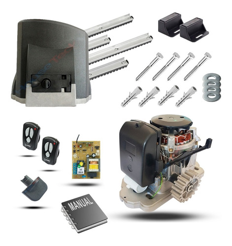 Kit Motor Portão Kdz Fit Garen 1/4 3m Crem 4contr Eletro