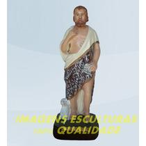 Escultura São João Batista Linda Imagem 40cm Promoção No Ml