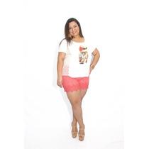 Shorts Feminino Plus Size Guipir