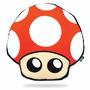 Almofada Gamer Decoração Geek Cogumelo Vermelho Super Mario