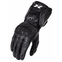Luva X11 Impact Motociclista Couro + Proteção + Cano Longo