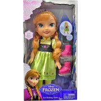 1036 Disney Frozen Boneca 15 Luxo Anna Patins