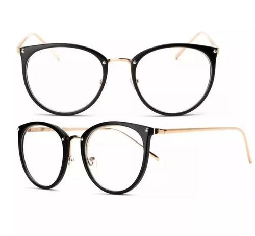 5174461c6ac62 Óculos Feminino Armação Grau Geeek Redonda Vintage
