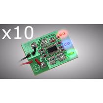 Kit Com 10 Voltímetros Digital Ajk Micro-volt