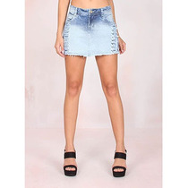 Shorts/saia Jeans Destroyed Feminino Max Denim