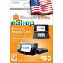 Cartão Nintendo 3ds - Wii U Eshop Cash Card $50 - Americano!