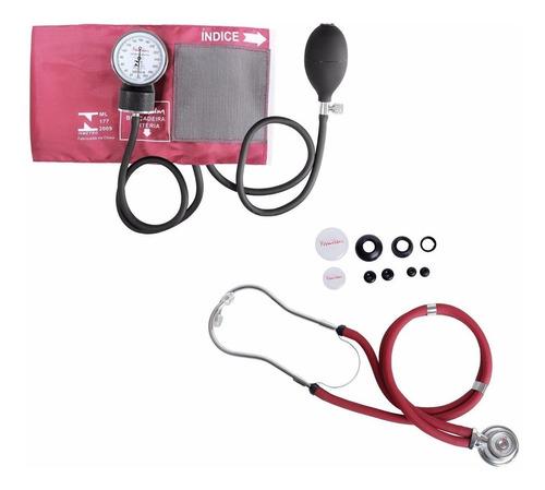 f43b97a12 Kit Esfigmomanômetro C/ Estetoscópio Rappaport Vinho Premium