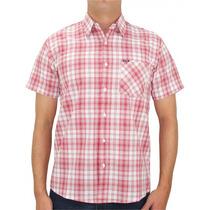 Camisa Hurley Manga Curta Xadrez Vermelho E Branco