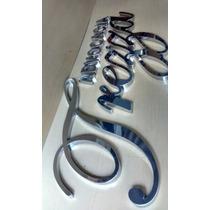 Letras Em Aço Inox/logo,números, Soluções Em Fachada 20cm