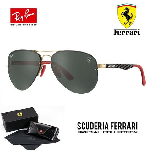 Ray Ban Aviador Tech Flip Out Rb3460 Ferrari Carbono +brinde - R ... b93ca17917