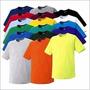 Camiseta Infantil Básica Lisa Tradicional 100% Algodão Cores