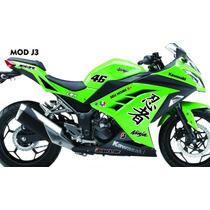 Adesivo Moto Kawasaki Ninja 300r Modelo Japonês