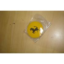 Emblema Ferrari Amarelo Tamanho 55mm Para Rpdas Esportivas
