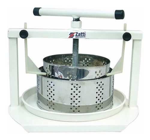 Prensa Para Queijos Zatti 2 Formas Redondas Inox 500g 1kg