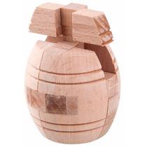 Quebra Cabeça Puzzle 3d De Madeira - Desafio Do Barril