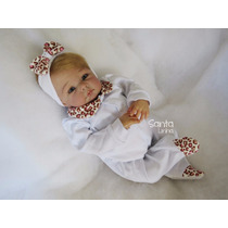 Saída Maternidade Oncinha Branca Roupa Bebê Enxoval De Bebê