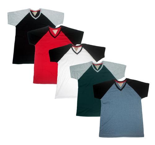 Kit C  05 Camiseta Masculina Plus Size Sortidas Gola V - R  124 en ... 7777bf02fa